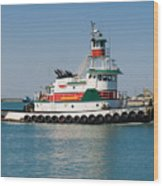 Popular Sight At Port Canaveral On Florida Wood Print