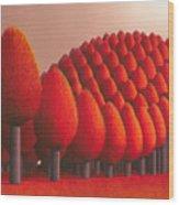 Populus Flucta Wood Print