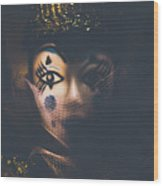 Porcelain Doll. Performing Arts Event Wood Print