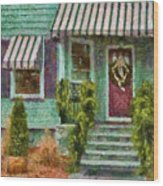Porch - Westfield Nj - Welcome Friends Wood Print