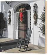 Porch At Boone Hall Plantation Charleston Sc Wood Print