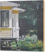 Porch By The Road Wood Print