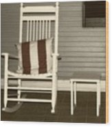 Porch Rocker Wood Print