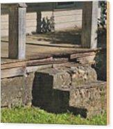 Porch Stoop Wood Print