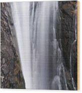 Porcupine Falls Closeup Wood Print