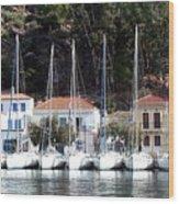 Poros Greece Wood Print