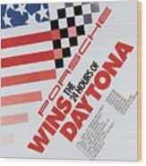 Porsche 24 Hours Of Daytona Wins Wood Print