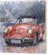 Porsche 356 B Roadster Wood Print