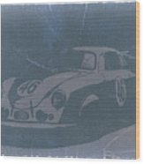 Porsche 356 Coupe Front Wood Print by Naxart Studio