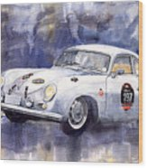 Porsche 356 Coupe Wood Print