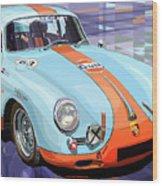 Porsche 356 Gulf Wood Print by Yuriy  Shevchuk