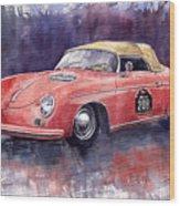 Porsche 356 Speedster Mille Miglia Wood Print