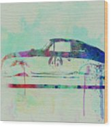 Porsche 356 Watercolor Wood Print