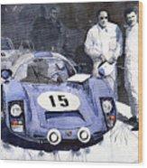 Porsche 906 Daytona 1966 Herrmann-linge Wood Print by Yuriy  Shevchuk