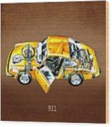 Porsche 911 1973 Wood Print