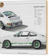 Porsche 911 Carrera Rs Illustration Wood Print