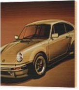 Porsche 911 Turbo 1976 Painting Wood Print