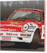 Porsche 911 Rally Illustration Wood Print