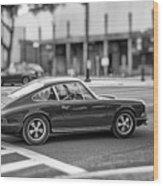 Porsche 911e Wood Print