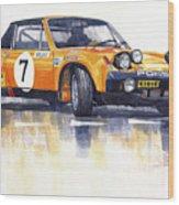 Porsche 914-6 Gt Rally Wood Print