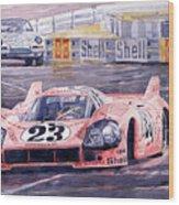 Porsche 917-20 Pink Pig Le Mans 1971 Joest Reinhold Wood Print