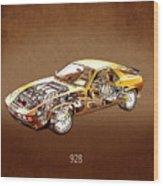 Porsche 928 1980 Wood Print