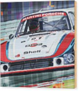 Porsche 935 Coupe Moby Dick Martini Racing Team Wood Print by Yuriy  Shevchuk
