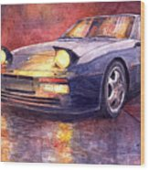 Porsche 944 Turbo Wood Print