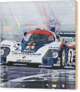Porsche 956 Rothmans 1982 1000km Francorchamps Derek Bell Wood Print
