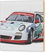 porsche 997 GT3 CUP Wood Print