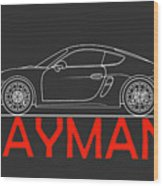 Porsche Cayman Phone Case Wood Print