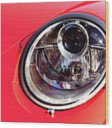 Porsche Headlight Wood Print