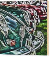 Porsche Row Wood Print by Barry C Donovan