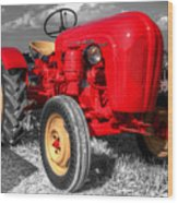 Porsche Tractor Wood Print by Rob Hawkins