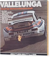 Porsche Vallelunga Vintage Racing Poster Wood Print
