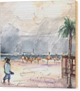 Port Alcudia Beach 01 Wood Print