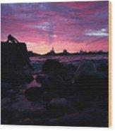 Port Angeles Harbor Eleven Wood Print