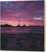 Port Angeles Harbor Twelve Wood Print