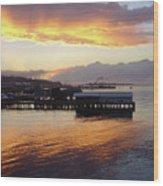 Port Angeles Sunset Wood Print