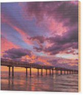 Port Aransas Texas Sunrise 25 Wood Print