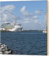 Port Canaveral In Floirda Wood Print