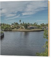 Port Charlotte Adhenry Waterway From Midway Wood Print