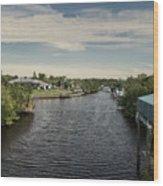 Port Charlotte Atlantus Waterway From Ohara Wood Print