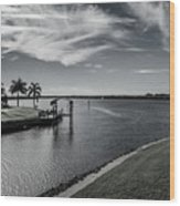 Port Charlotte Bay Harbor Waterway From Ohara Wood Print