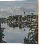 Port Charlotte Elkham Waterway From Tamiami Wood Print