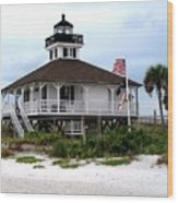 Port Charlotte Harbor Lighthouse Wood Print