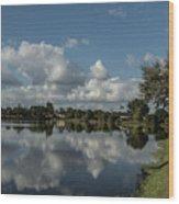 Port Charlotte Niagara Water Way From Olean Wood Print