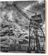 Port Crane Wood Print