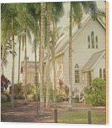 Port Douglas Beach Chapel Wood Print