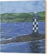 Port Glasgow, Perch Lighthouse Wood Print